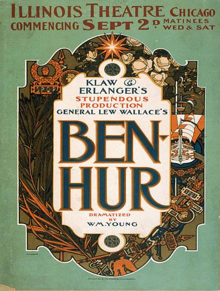 Screenprinting Painting - Vintage Poster - Ben-hur by Vintage Images