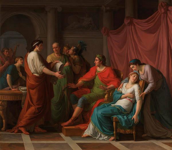 Faint Wall Art - Painting - Virgil Reading The Aeneid To Augustus And Octavia by Jean-Joseph Taillasson