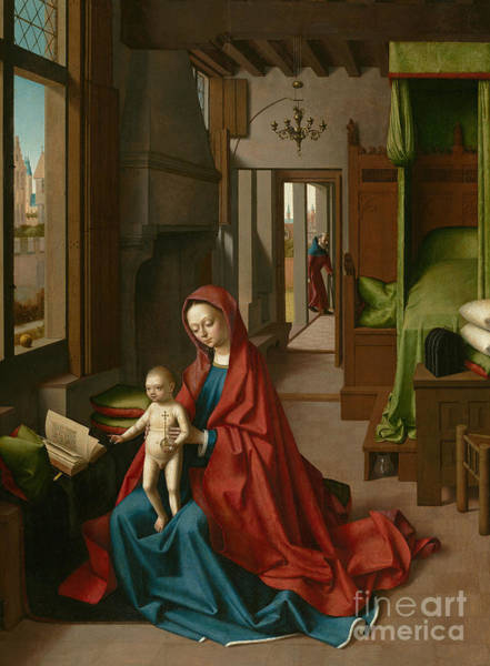 Wall Art - Painting - Virgin And Child by Petrus Christus