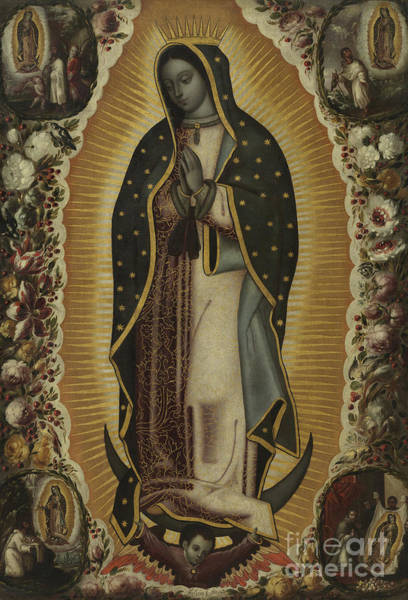 Central America Painting - Virgin Of Guadalupe by Manuel de Arellano