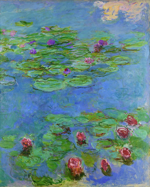 Nature Knows Best Wall Art - Painting - Water Lilies, 1917 by Claude Monet