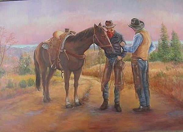 Painting - 3 Way Conversation by Naomi Dixon