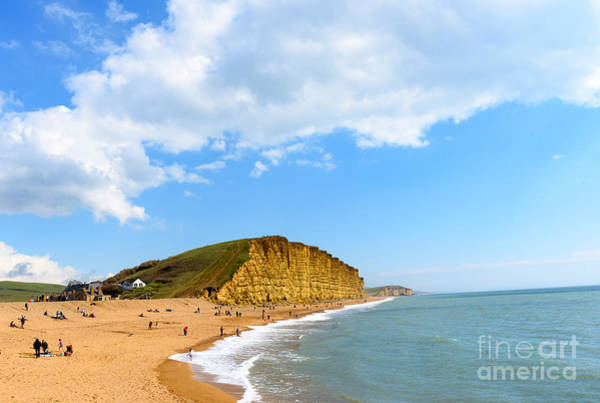 Photograph - West Bay Cliffs by Colin Rayner