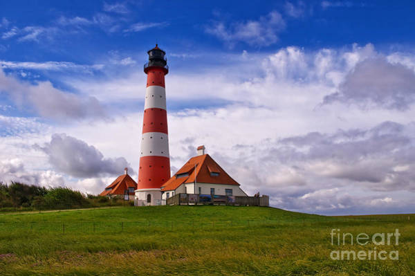 Photograph - Westerhever Lighthouse by Angela Doelling AD DESIGN Photo and PhotoArt