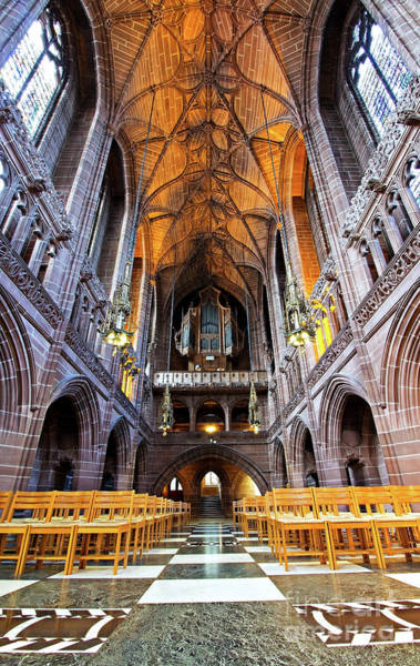 Wall Art - Photograph - Wide Angle View Of Lady Chapel In Liverpool Cathedral, Liverpool Uk. by Ken Biggs