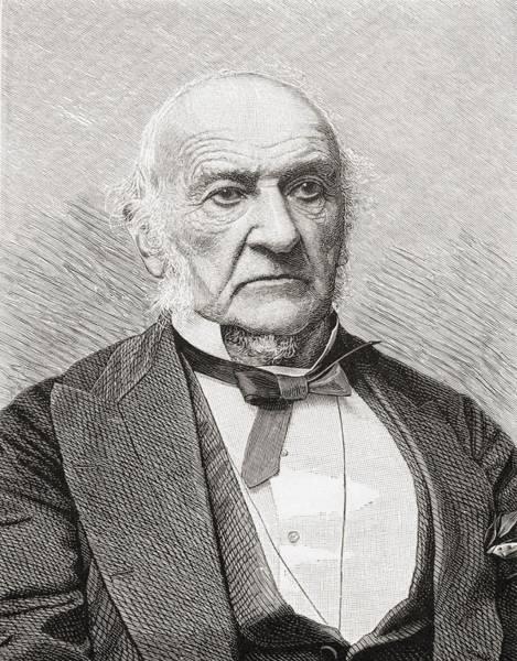 Gladstone Wall Art - Drawing - William Ewart Gladstone, 1809 To 1898 by Vintage Design Pics