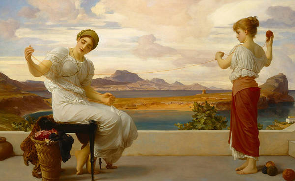 Wall Art - Painting - Winding The Skein by Frederic Leighton