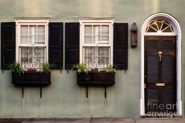 Low Battery Photograph - Windows And Doors Of Charleston by Dawna Moore Photography