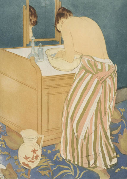 Relief - Woman Bathing by Mary Cassatt