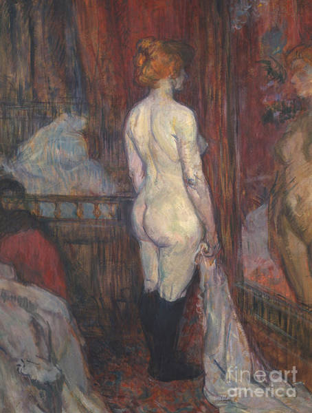 Wall Art - Painting - Woman Before A Mirror by Henri de Toulouse-Lautrec