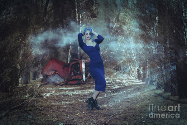 Wall Art - Photograph - Woman In The Forest by Amanda Elwell