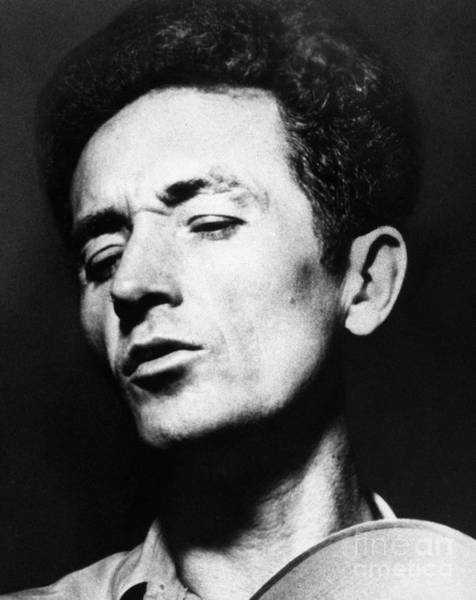 Folk Singer Photograph - Woody Guthrie (1912-1967) by Granger