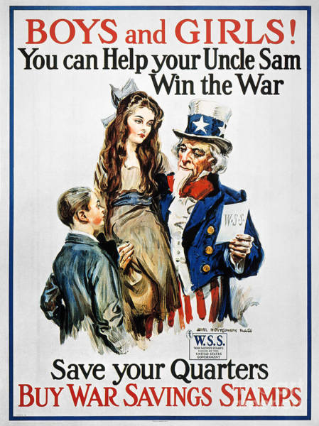 Photograph - World War I: U.s. Poster by Granger