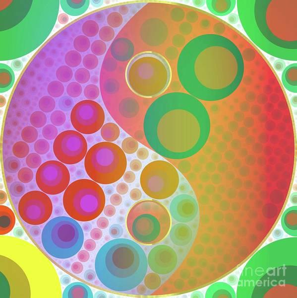 Gautama Digital Art - Yin Yang Pop Art By Mary Bassett by Mary Bassett