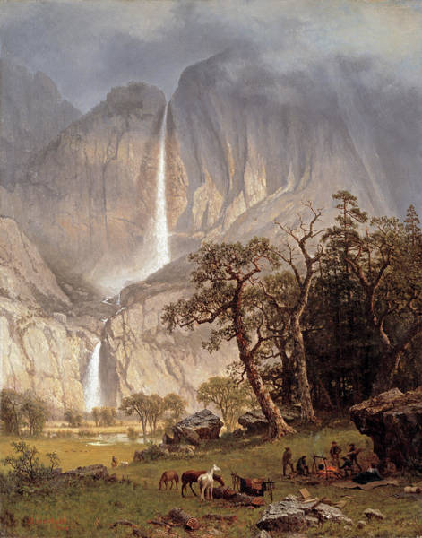 Dome Painting - Yosemite Falls by Albert Bierstadt
