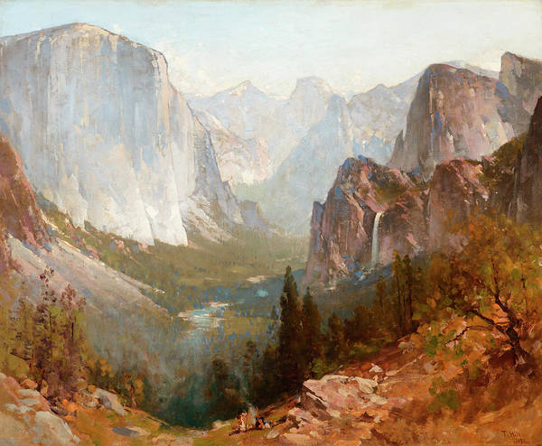 New Hampshire Painting - Yosemite Valley by Thomas Hill