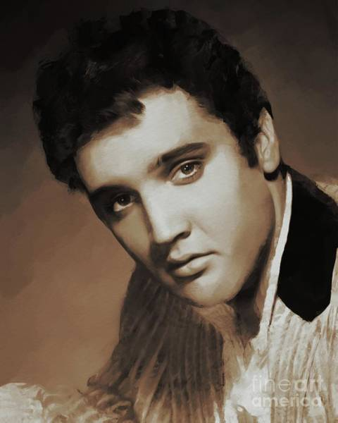 Memphis Painting - Elvis Presley, Rock And Roll Legend by Mary Bassett