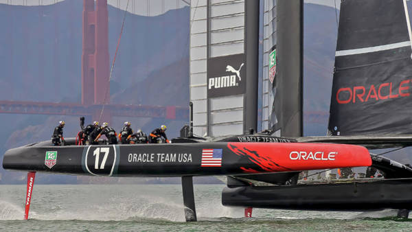 Photograph - Oracle Americas Cup by Steven Lapkin