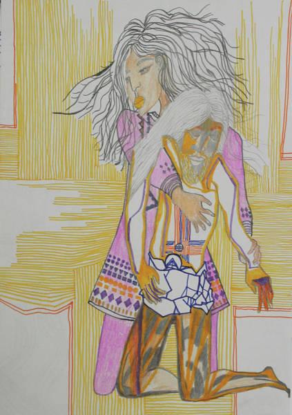 Painting - Pieta by Gloria Ssali