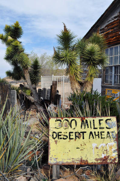 Photograph - 300 Miles Desert Ahead by Kyle Hanson