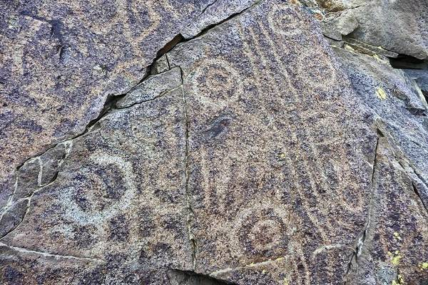 Photograph - 3,000 Year Old Petroglyphs Argentina by NaturesPix