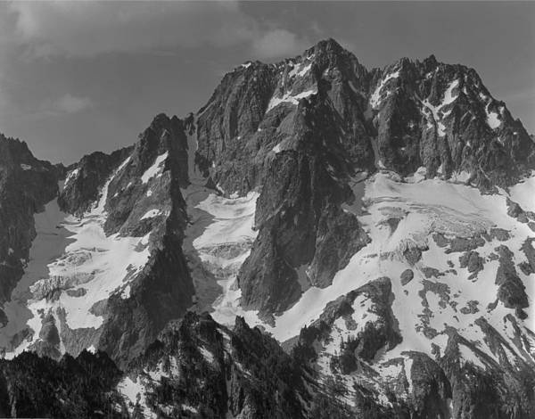 304630 Bw North Face Mt. Stuart Art Print
