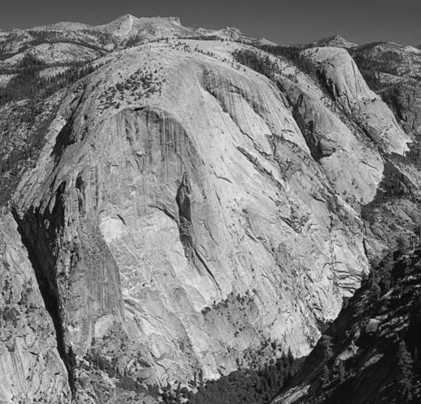 Photograph - 306531bw South Face Mt. Watkins Yosemite by Ed Cooper Photography