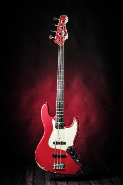 Photograph - 308.1834 Fender Red Jazz Bass 1965 In Color by M K Miller