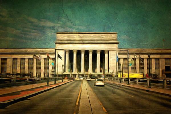 Mixed Media - 30th Street Station Traffic by Trish Tritz