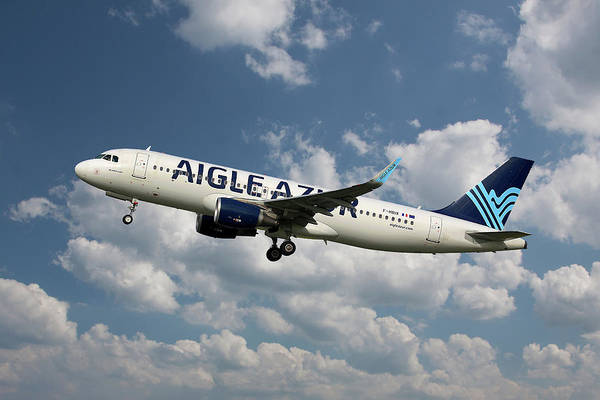 Wall Art - Photograph - Aigle Azur Airbus A320-214 by Smart Aviation