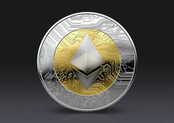 Wall Art - Digital Art - Cryptocurrency Physical Coin by Allan Swart