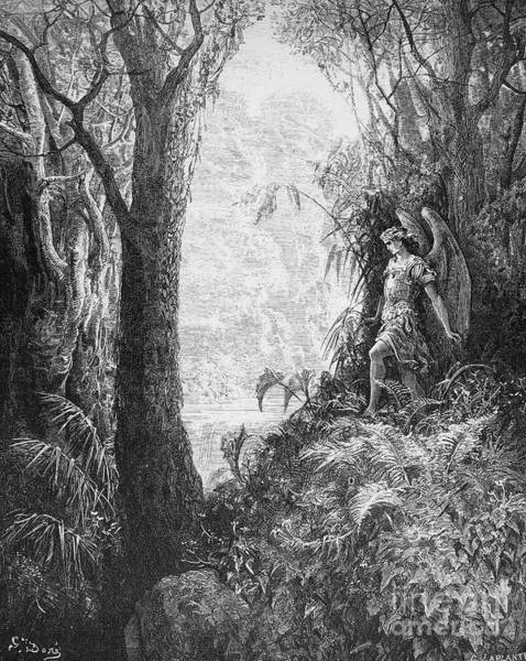Drawing - Paradise Lost by Gustave Dore