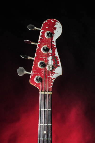 Photograph - 312.1834 Fender Red Jazz Bass 1965 In Color by M K Miller