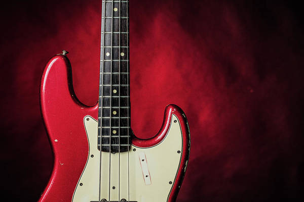 Photograph - 313.1834 Fender Red Jazz Bass 1965 In Color by M K Miller