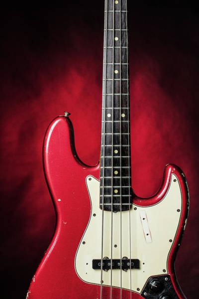 Photograph - 314.1834 Fender Red Jazz Bass 1965 In Color by M K Miller