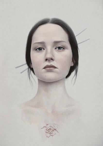 Female Portrait Painting - 318 by Diego Fernandez