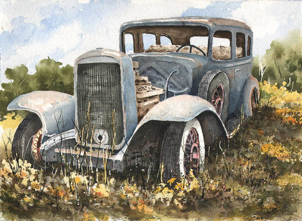 Painting - 32 Buick by Sam Sidders