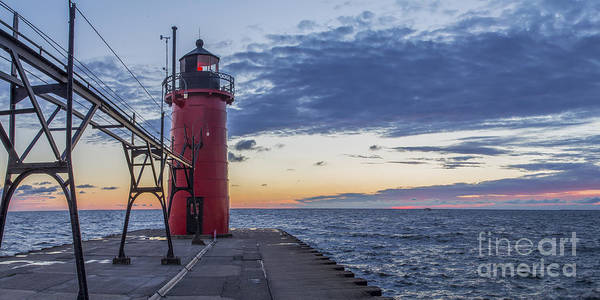 Haven Photograph - South Haven Light by Twenty Two North Photography
