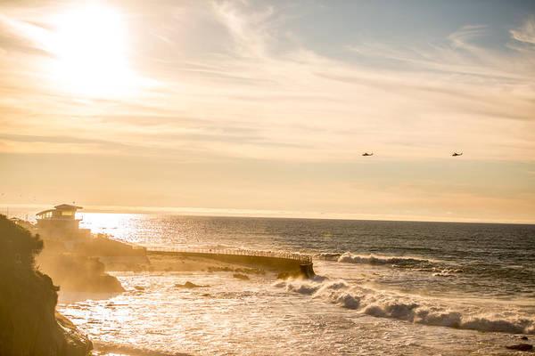 b0bbabe957 La Jolla Cove Photograph - Sunset On La Jolla Beach, California, Usa by Anna