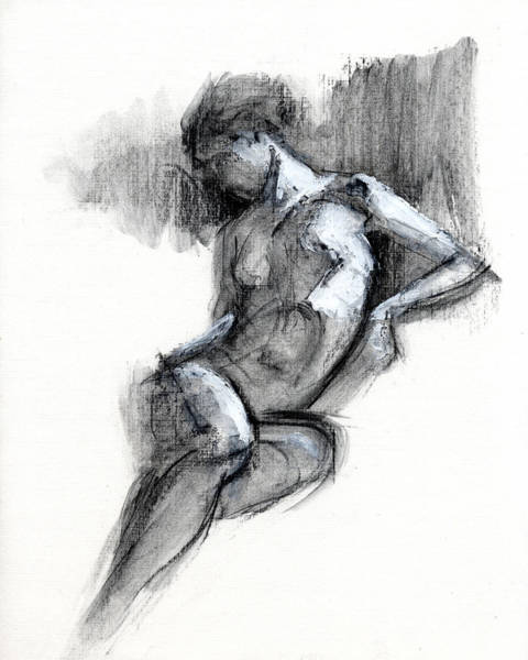 Erotic Drawing - Rcnpaintings.com by Chris N Rohrbach