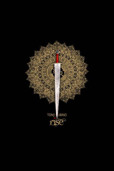 Mixed Media - Rise Rubino Sword by Tony Rubino