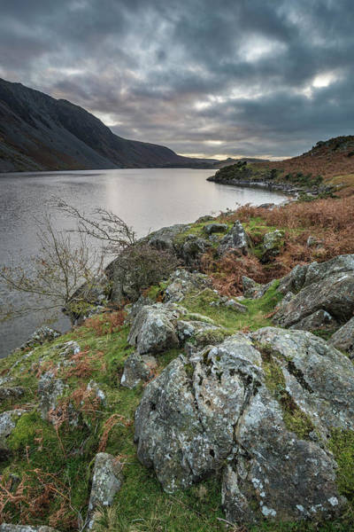 Wast Wall Art - Photograph - Beautiful Sunset Landscape Image Of Wast Water And Mountains In  by Matthew Gibson