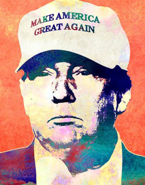 Trump Digital Art - Donald Trump 2016 Presidential Candidate by Elena Kosvincheva