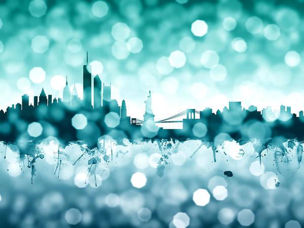 Bokeh Digital Art - New York Skyline by Michael Tompsett