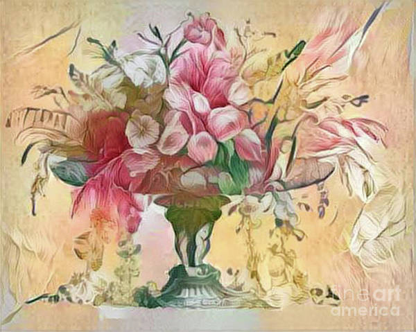 Wall Art - Digital Art - Shabby Chic Botanical Flowers by Amy Cicconi