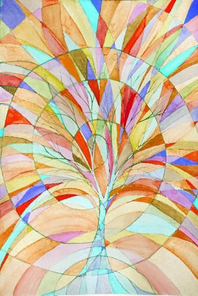 Vitrage Wall Art - Painting - Tree Of Life by Sandrine Kespi