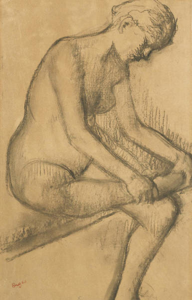 After The Bath Drawing - After The Bath by Edgar Degas