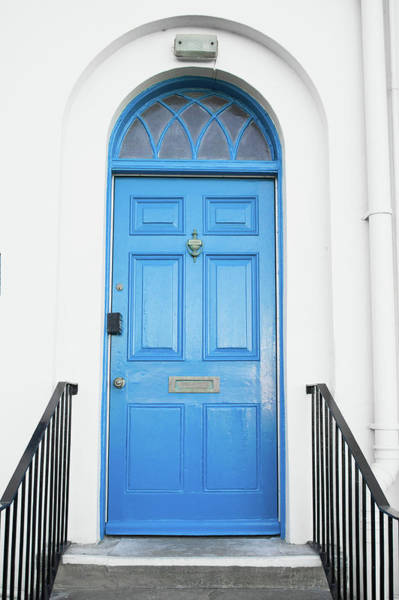 Door To Door Photograph - Blue Door by Tom Gowanlock