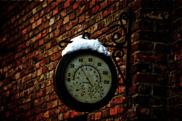 Photograph - 34 Degrees Weather Guage by Lesa Fine