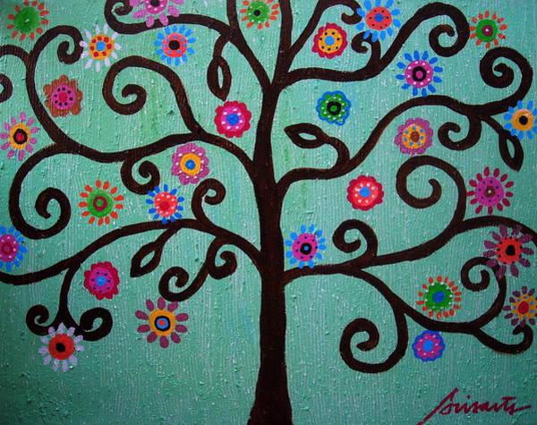 Prisarts Wall Art - Painting - Tree Of Life by Pristine Cartera Turkus